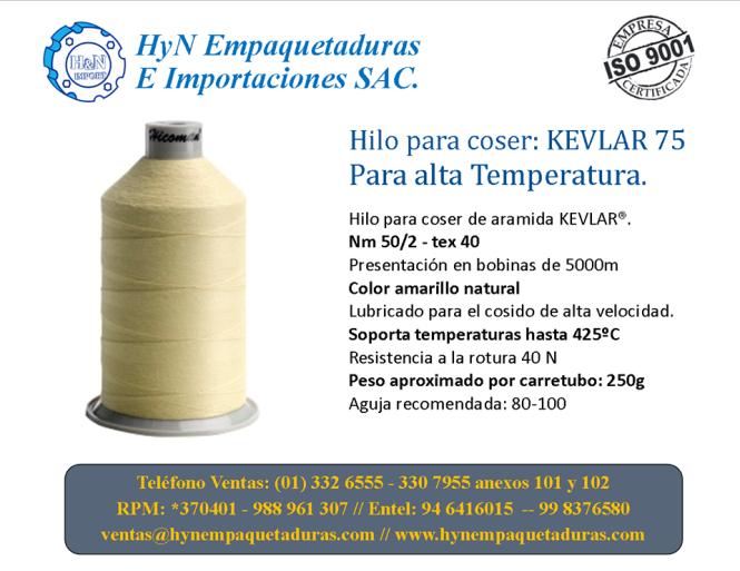 Hilo Kevlar para Temperatura Perú